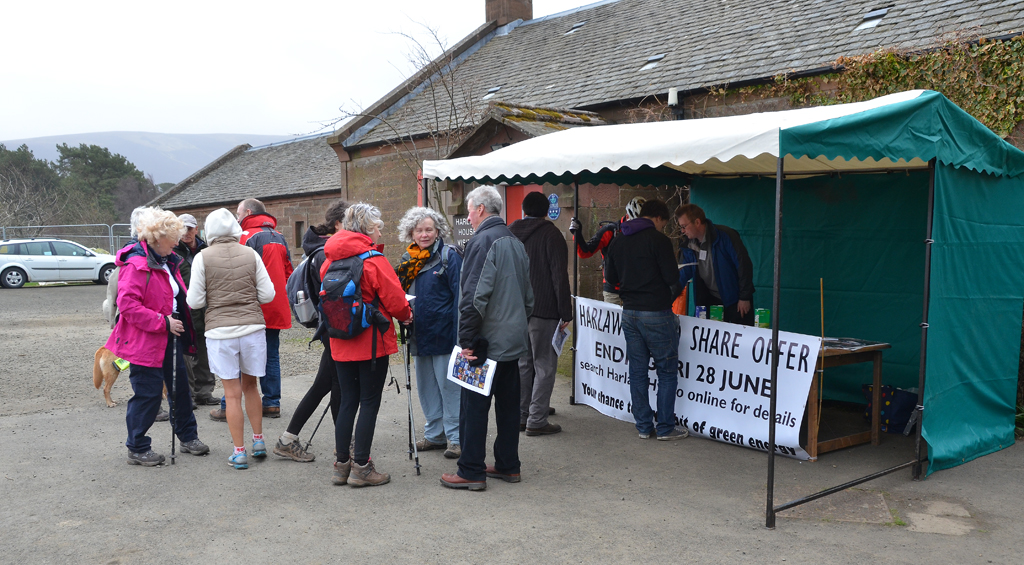Visitors to the Harlaw Hydro stand